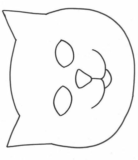 Molde de mascara de gato para imprimir - Imagui
