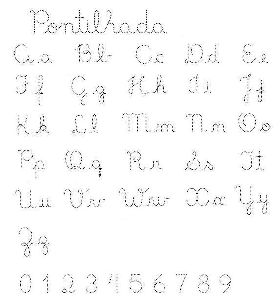 Muito exercícios de caligrafia alfabeto completo | Visite o novo blog  OQ67